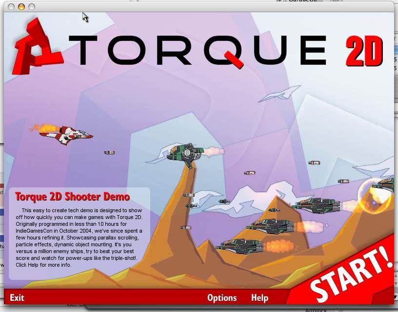Torque2D gradius-wannabe screenshot