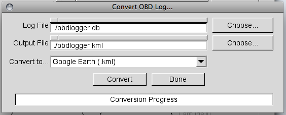 OBD GPS Logger for Linux and OSX