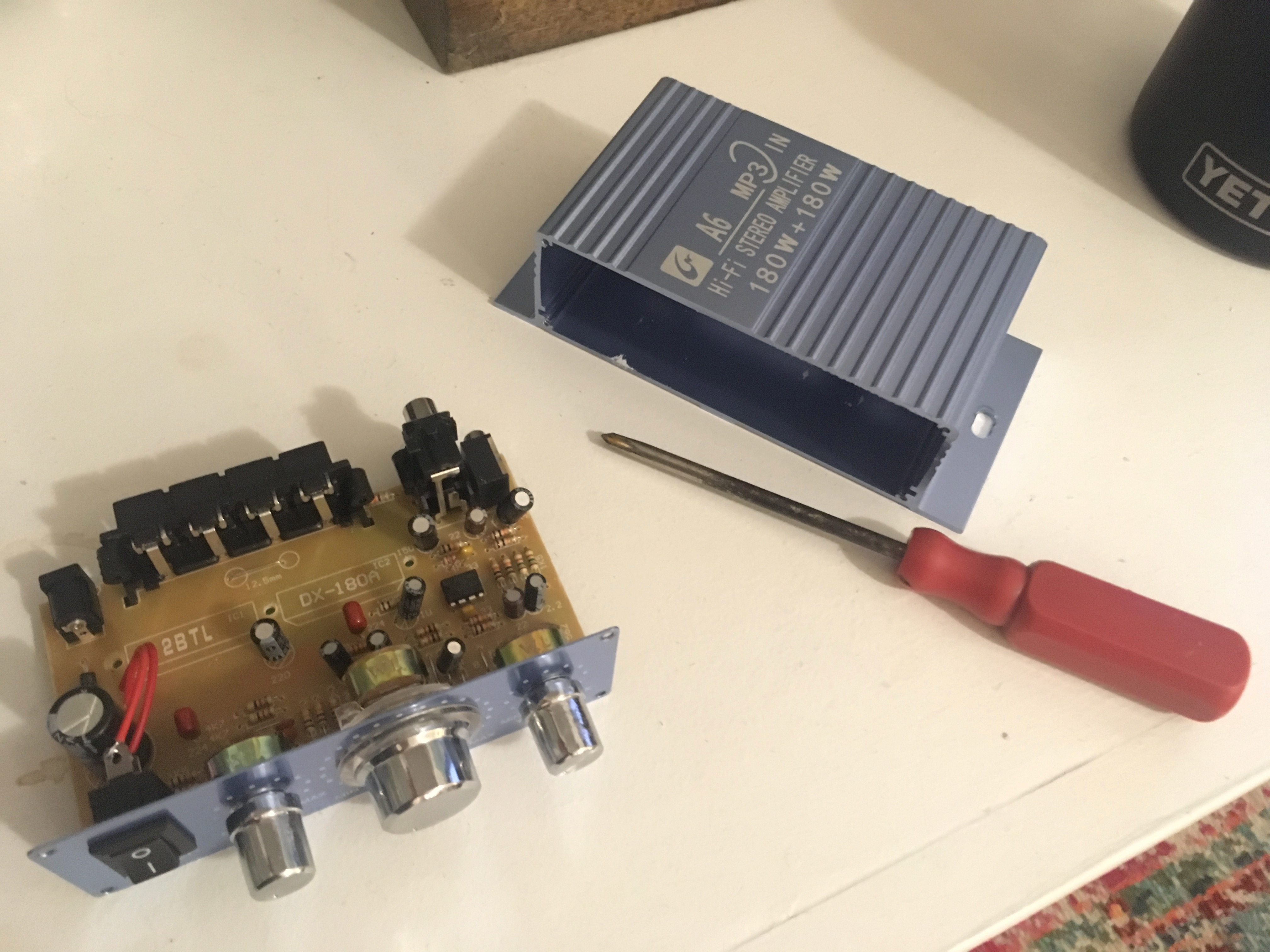 the amp's guts